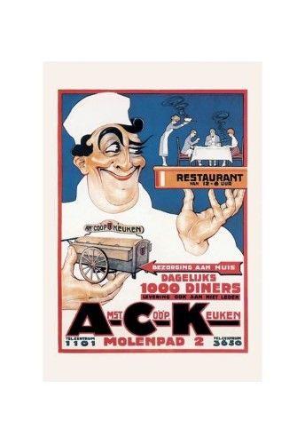 'Amst Coop Keuken' Print (Black Framed Poster Print 20x30)
