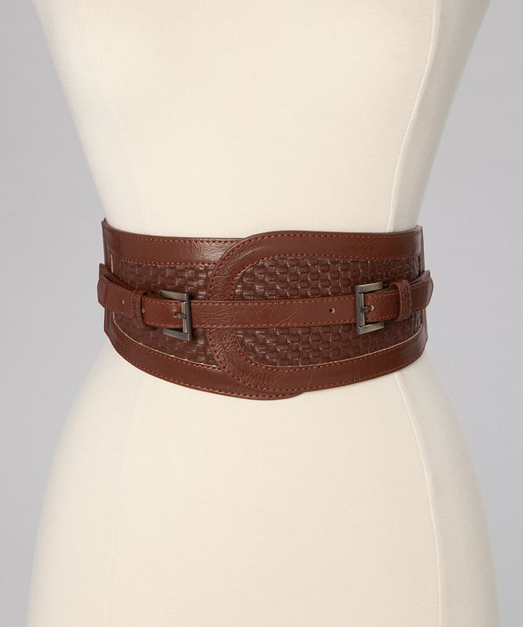 Cognac Double Buckle Stretch Belt | Daily deals for moms, babies and kids