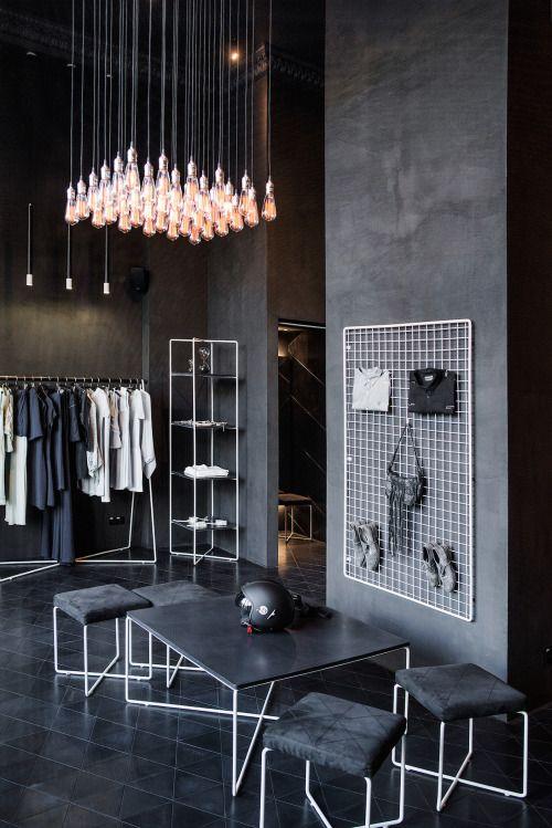 + black interior shop + More