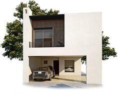 Venta de Casas en Cumbres - Modelo Ibiza I – Encuentra la mayor oferta de casas nuevas en venta con mensualidades desde $14,000. #fachadasmodernaschicas
