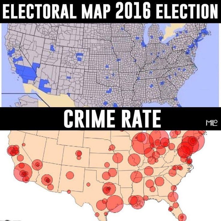 Best After Election Liberal Tolerence Images On Pinterest - Crime map vs 2016 us election