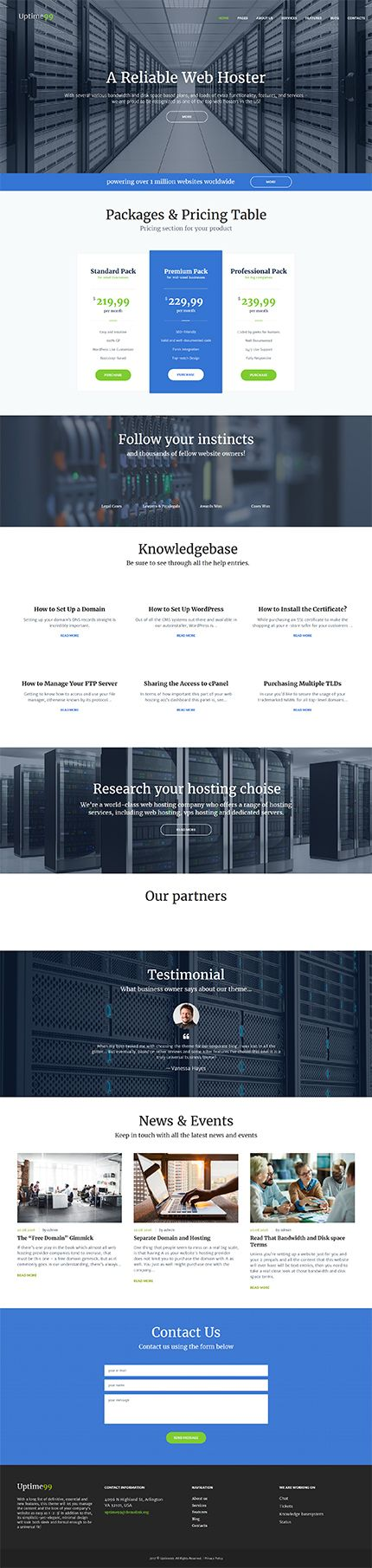 Hosting website inspirations at your coffee break? Browse for more WordPress #templates! // Regular price: $75 // Sources available:.PHP, This theme is widgetized #Hosting #WordPress