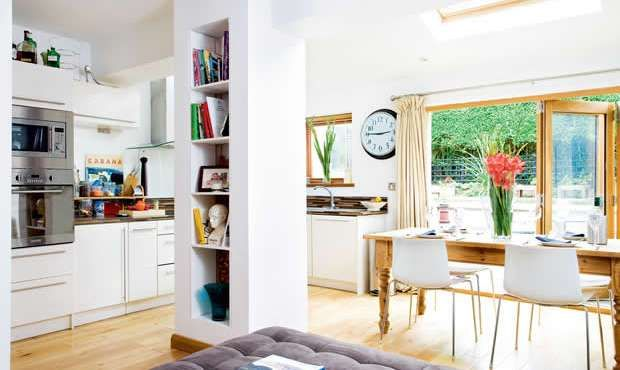 1930s extension project | Real Homes gd double oven wooden doors and big table