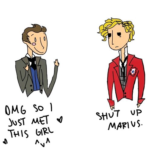 les mis   Tumblr Enjolras, saying what everyone else is thinking.