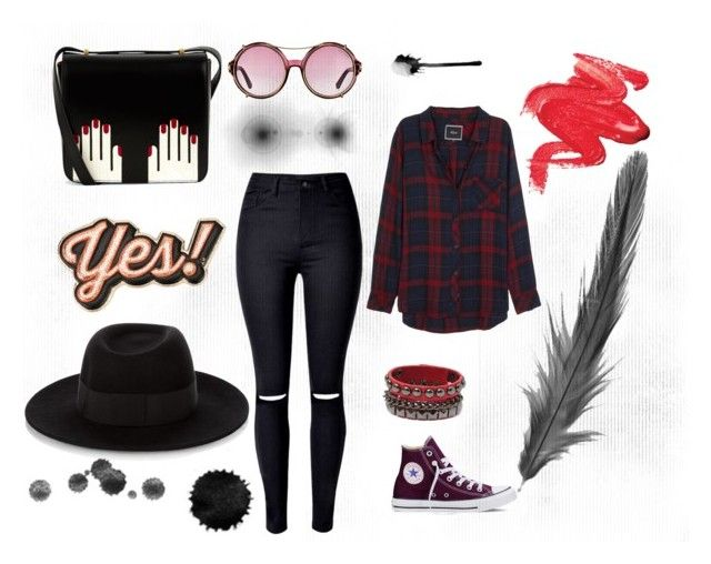 """""""Без названия #3"""" by anya7202 ❤ liked on Polyvore featuring beauty, Rails, WithChic, Converse, Lulu Guinness, Maison Michel, Tom Ford and Anya Hindmarch"""