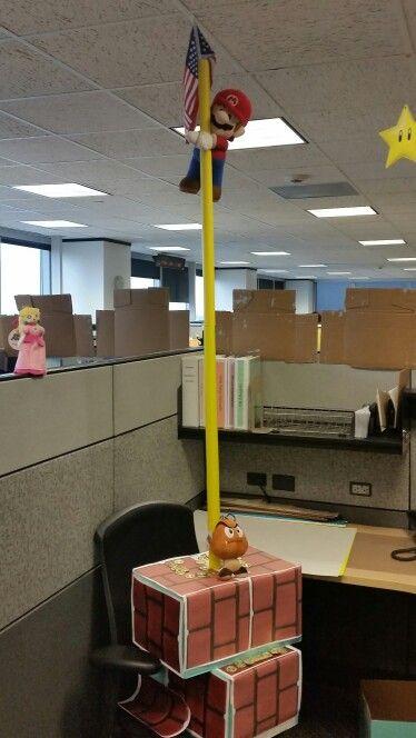 Pole Based Cubicles : Flag pole super mario bros cubicle castle pinterest