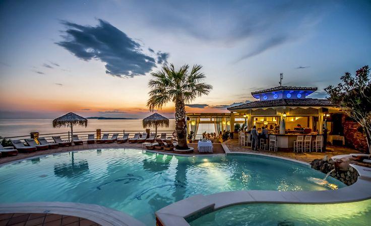 Amazing colors! #DelfinoBlu #Corfu #sunset