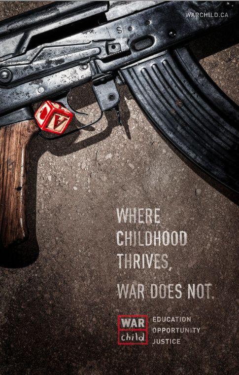 "Gran Campaña War Child ""Donde la niñez prospera la guerra No"" #kids #niños #childhood #war"