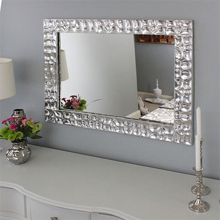 Megan at 'the homes I have made' transformed her bedroom with painted furniture and new accessories. What I found striking in this room setting is the metallic silver mirror. Bought for over R1000, you can easily make this beautiful mirror at a fraction of the cost
