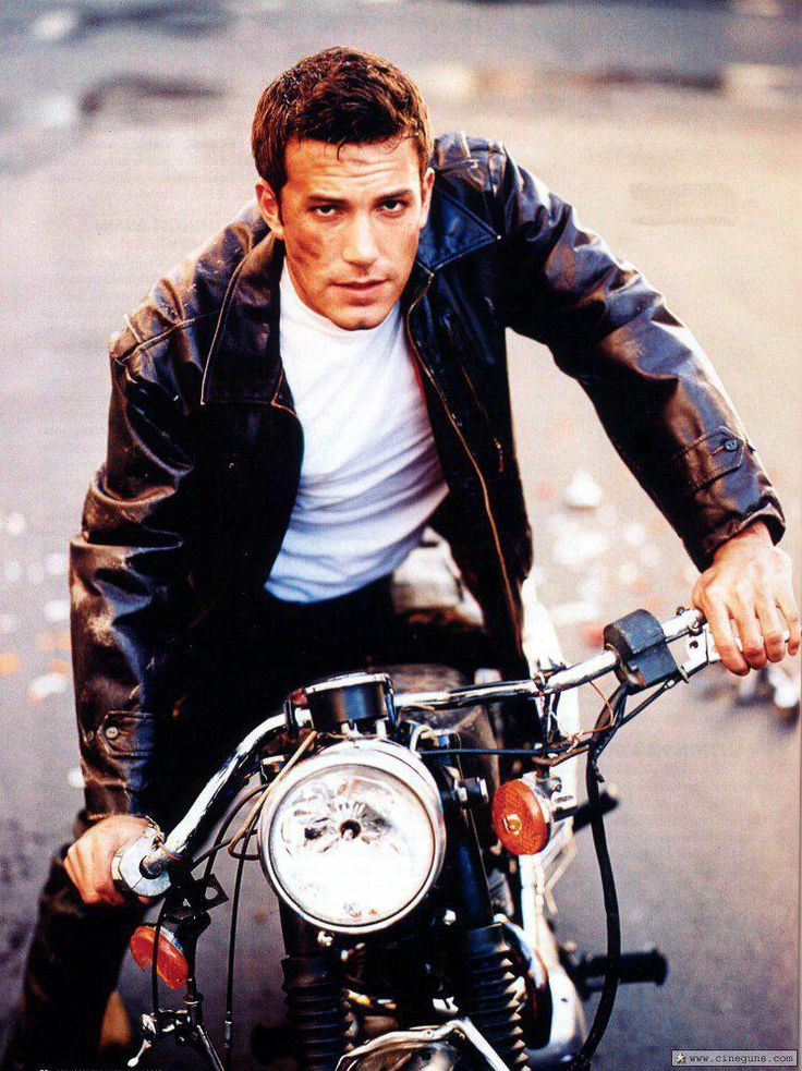 Biker - Ben Affleck.  One of my favorite actors and directors AND he's on a motorcycle!!