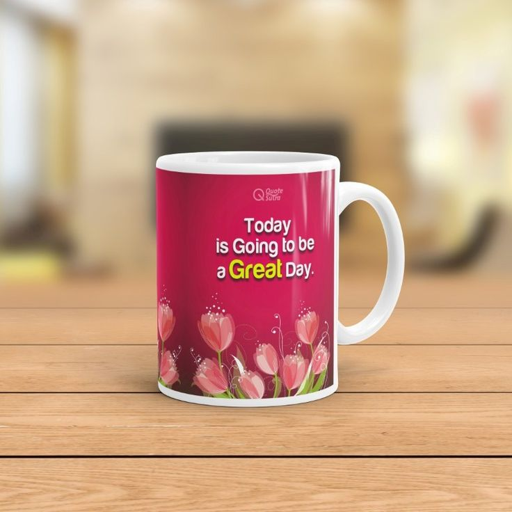 Inspire yourself & loved ones with awesome designer mug by QuoteSutra. Our premium mugs are made with High Quality Ceramic and have Excellent Printing. As per Energy Principle Energy follows Thought. Your Life is made by your choices, there is always a Choice to have Great Day. Why not to have All Days as Great Days!! By affirming this Everyday for 3 times or 7 times You change your Subconscious level Thought Processes. Make everyday a great day with inspirational Mug by Quotesutra.