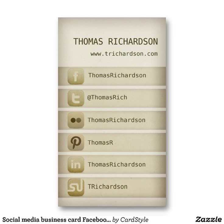 Social #media #business card Facebook Twitter #design #template ...