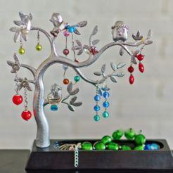 Jewellery tree   • Download on cults3d.com • #3Dprinting #3Dprint #3Ddesign #STLmodel #STL file #3Dmodel #3Dprinter #Impression3D #Imprimante3D #Fichier3D #Design #3Dmodeling #3D #impresora3D #impresion3D #3Dmodelo