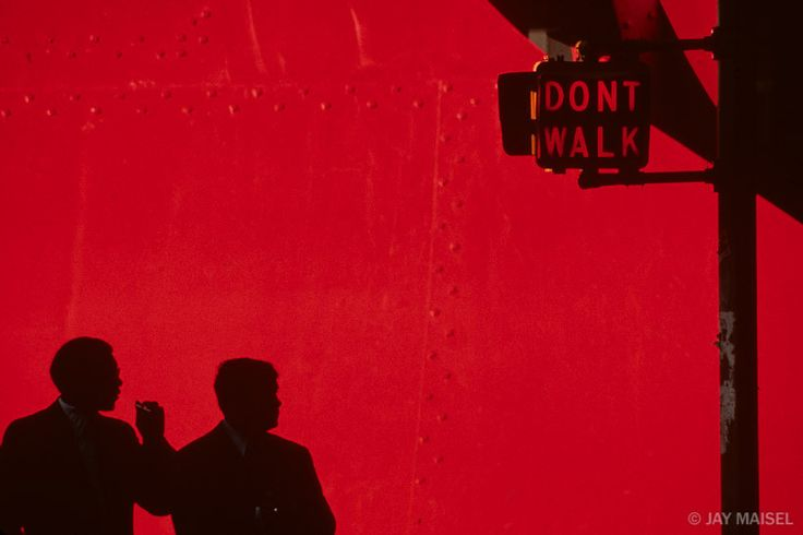 Don't Walk and Red by Jay Maisel