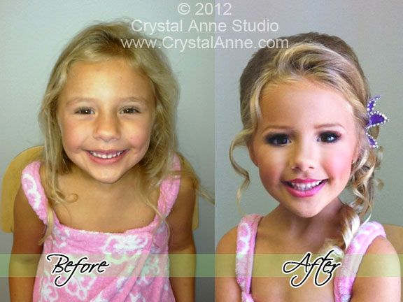 child glitz pageant hair & airbrush makeup by www.CrystalAnne.com