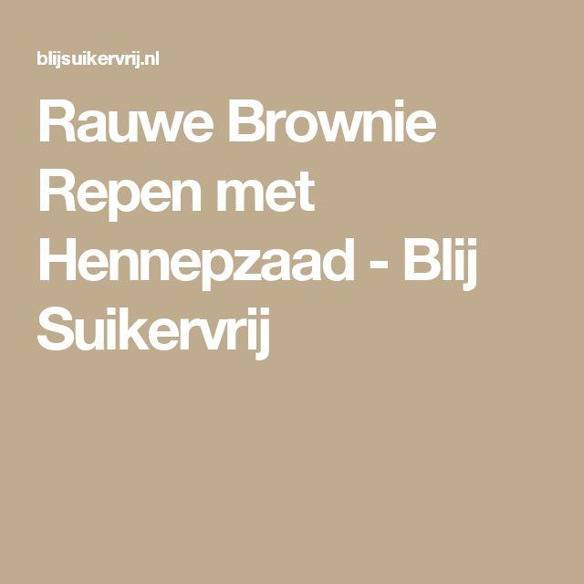 Rauwe Brownie Repen met Hennepzaad - Blij Suikervrij