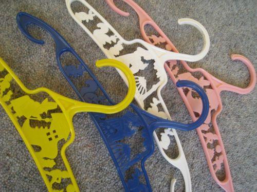 Set 4 Baby Coat Hangers Old Nursery Rhyme Coathanger Vintage Coat Hangers as New | eBay
