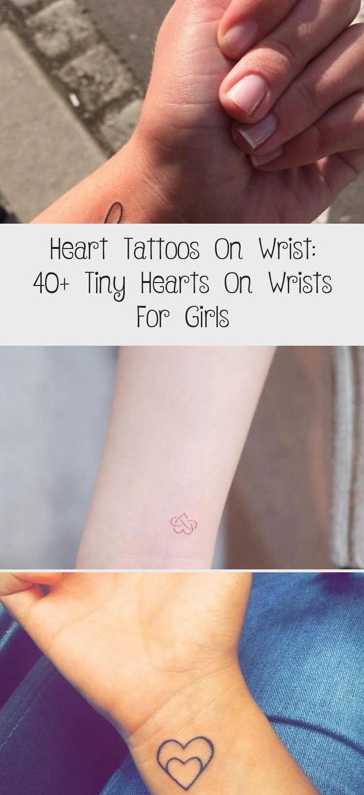 Dotted Small Heart Tattoo On a Wrist