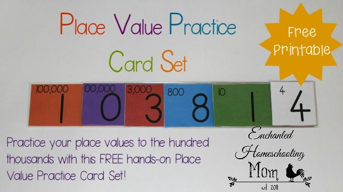 Practice your place values to the hundred thousands with this FREE hands-on Place Value Practice Card Set!