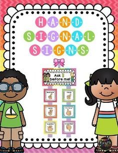 This is a great little set to display in your classroom. This is perfect for having your students use hand signals to communicate with you instead of interrupting you while you are teaching or in small group. This set includes EDITABLE SIGNS as well!