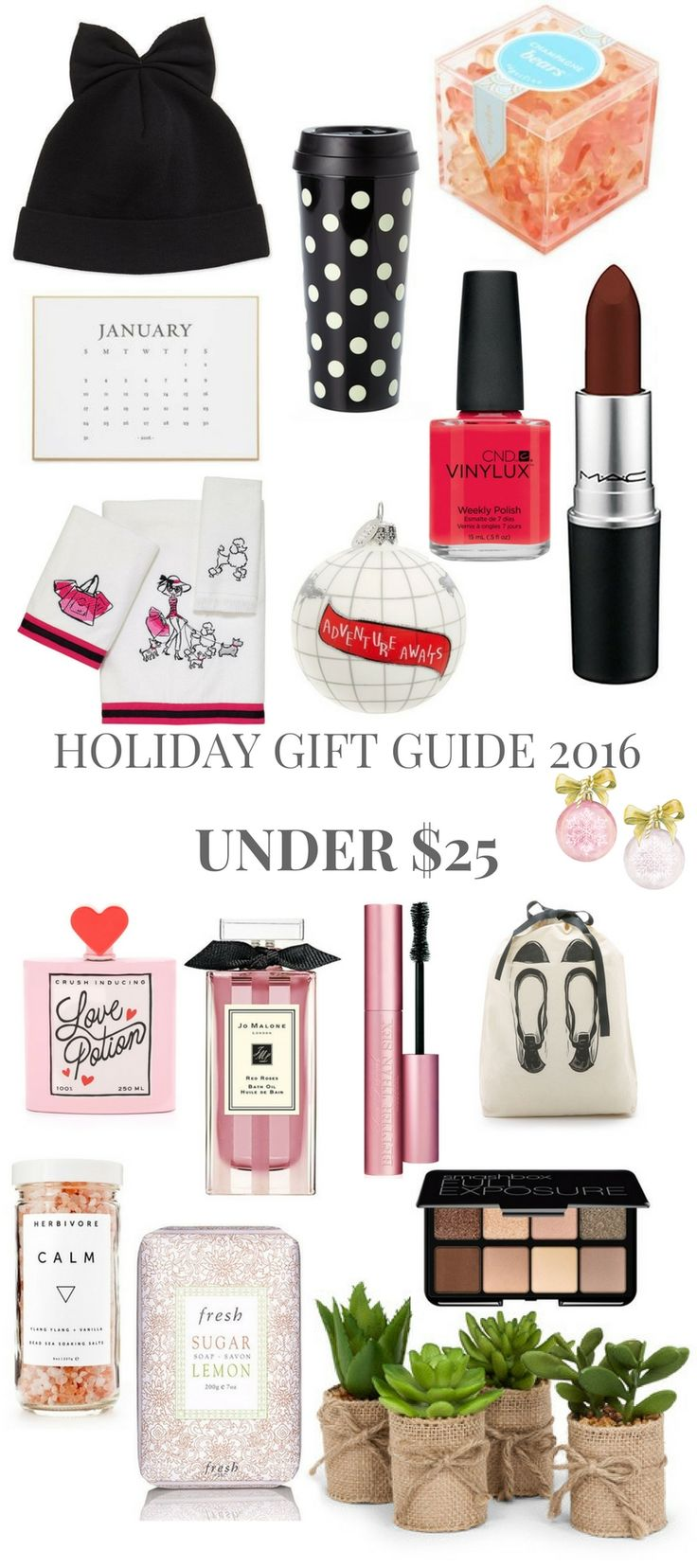 HOLIDAY GIFT GUIDE UNDER $25 // Shoegal Out In The World