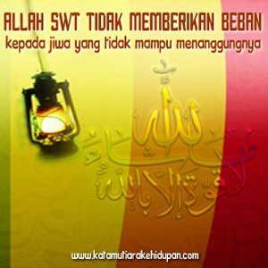 Kata Mutiara Islam Beban Jiwa