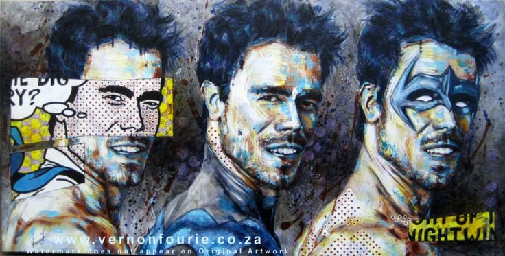 """""""NightWing""""    Oli & Mixed Media on Canvas    by Vernon Fourie"""