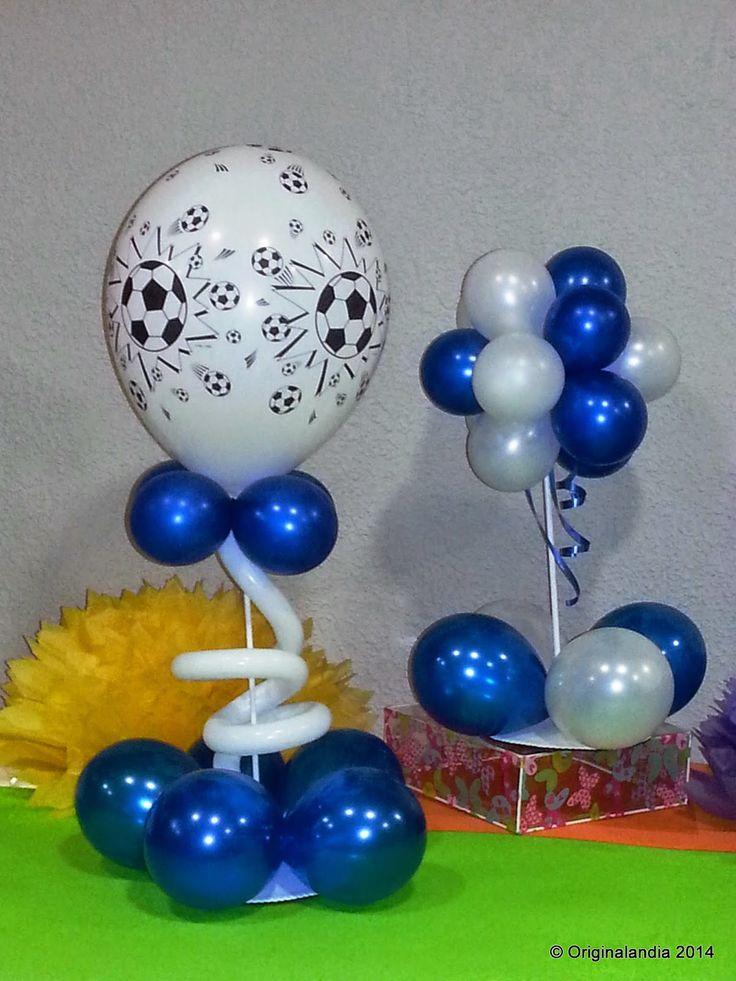 Centro de mesa en globos en helio buscar con google - Globos de cumpleanos ...