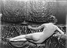 "Eleanor Boardman - American silent film actress. Portrait by Arnold Genthe, recreating the ""Rokeby Venus"", 1918."