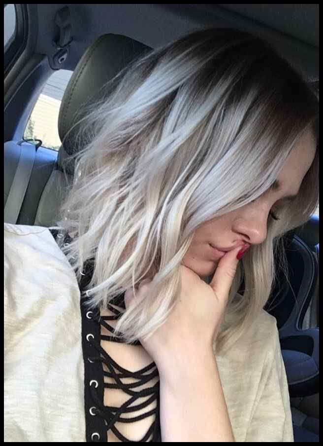 Blonde Bob Highlights Platinum Balayage Kimcocozzella Hair Wish