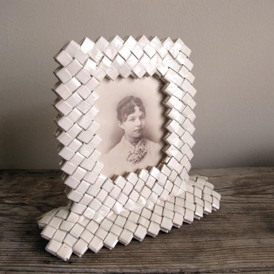 Tramp Art Frame from Cigarette Pkgs/wrappers. | Tramp Art, Hobo Art, Prison Art
