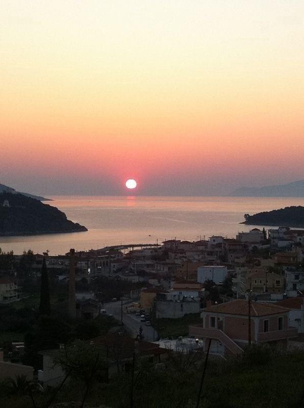 Sun rises from the sea...  www.ermionivillas.gr  www.facebook.com/ermionivillas