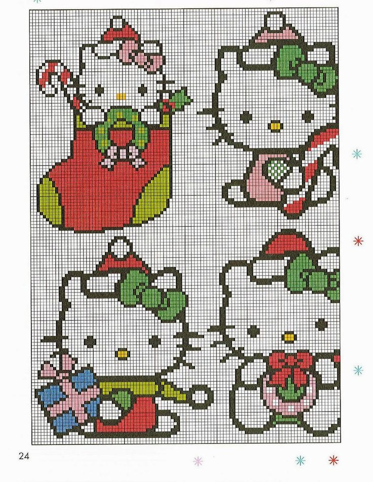 Diagramas de hello Kitty en punto de cruz - Revistas de manualidades Gratis