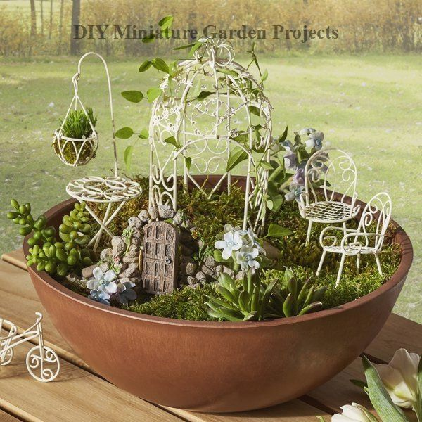 Diy Miniature Garden S Decoration, Diy Miniature Fairy Garden Furniture