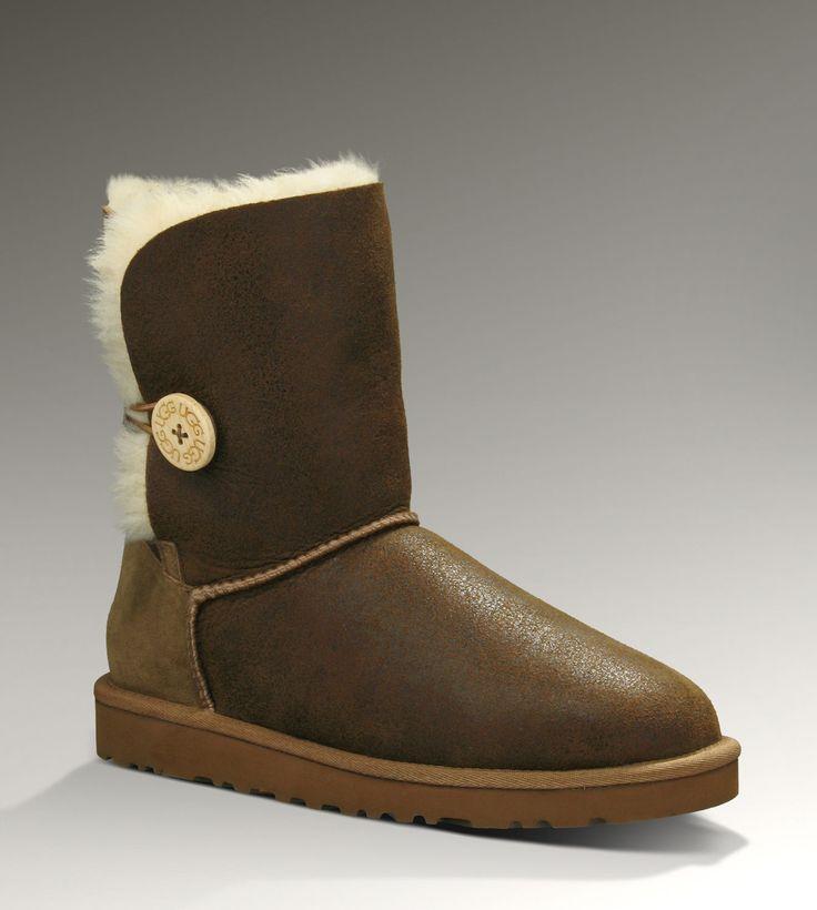 womens ugg australia tan bailey button bomber boots