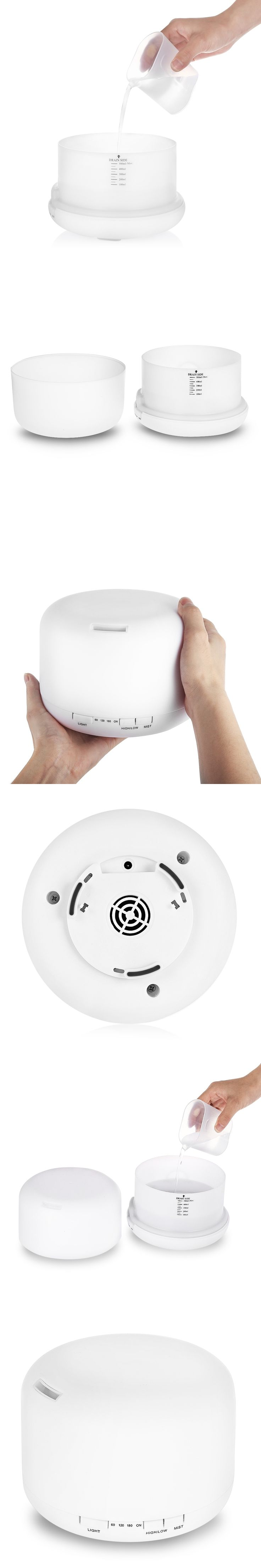 Ultrasonic Humidifier Aromatherapy Diffuser Essential Oil Diffuser Mist Maker With 7 Color LED light Changing