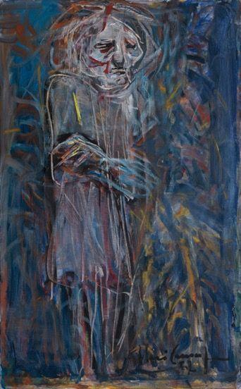 Miséria 1, 1987 óleo sobre tela 89 x 55 cm col. Maria Coussirat Camargo Fundação Iberê Camargo, Porto Alegre Tombo P171