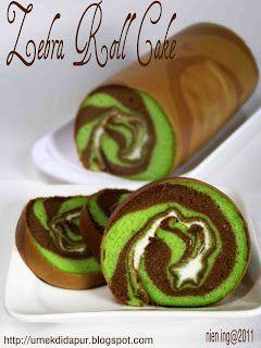 Umek di Dapur: Zebra Roll Cake 6 telur / 30x30