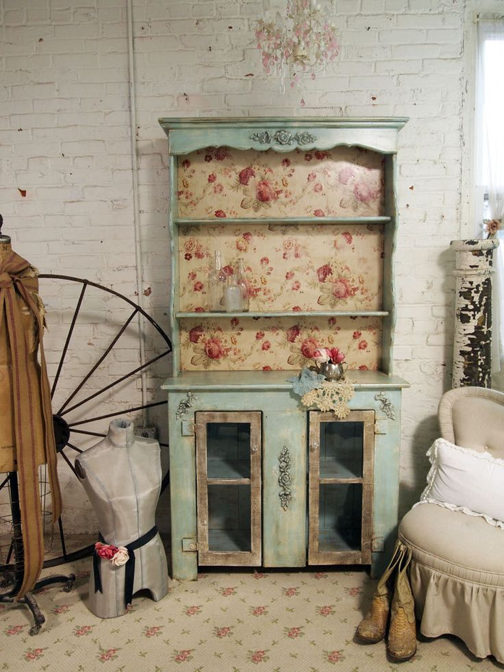 Vintage Painted Cottage Shabby Aqua Romantic by paintedcottages. $495.00, via Etsy. Furniture Redo.