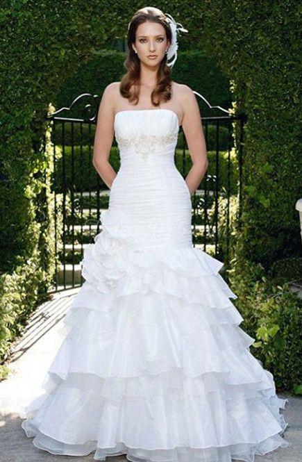 chiffon princess weddding dress
