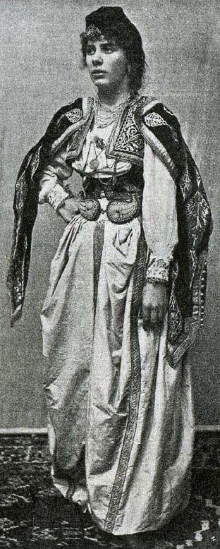 Illustration: Traditional Bosnian Islamic costume.