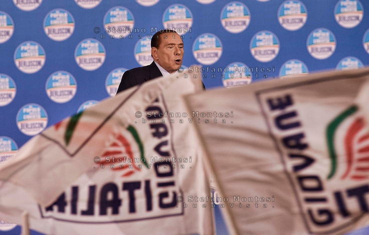 .Former Italian Prime Minister and leader of PDL center right party,Silvio Berlusconi rallies in Rome during his electoral campaign. Elections are scheduled for 24-25 ferbruary 2103..