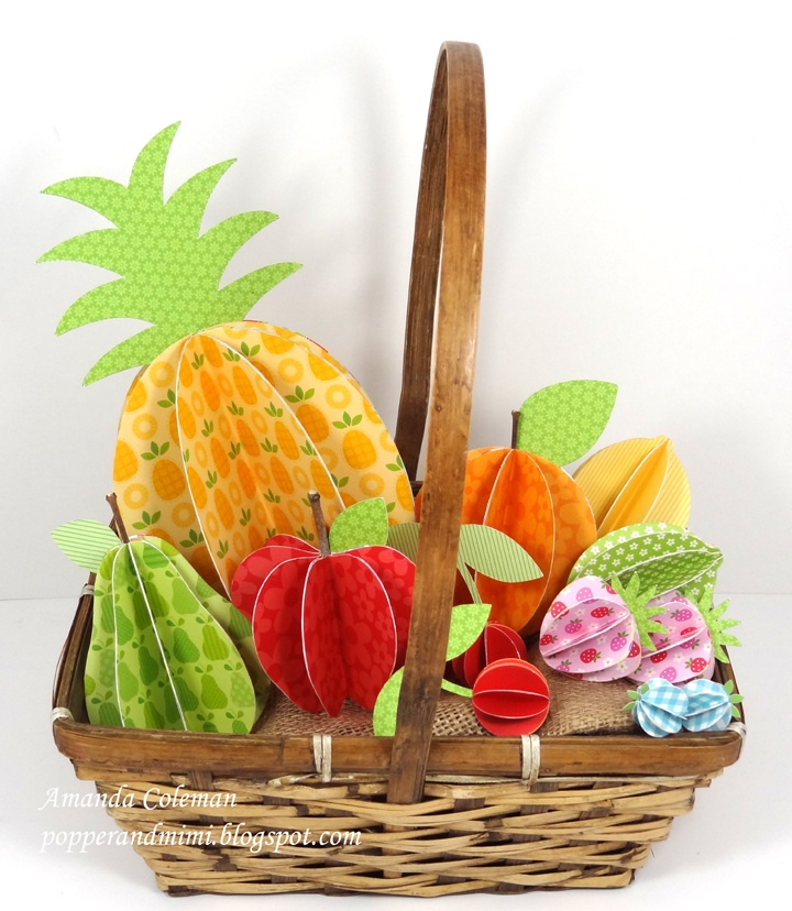 3D Paper Fruit Basket - Scrapbook.com