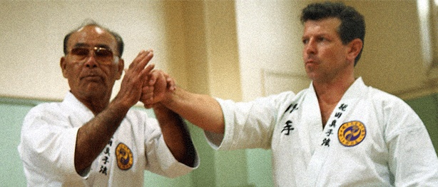 My instructor Peter Polander with our Grandmaster, Taika Oyata