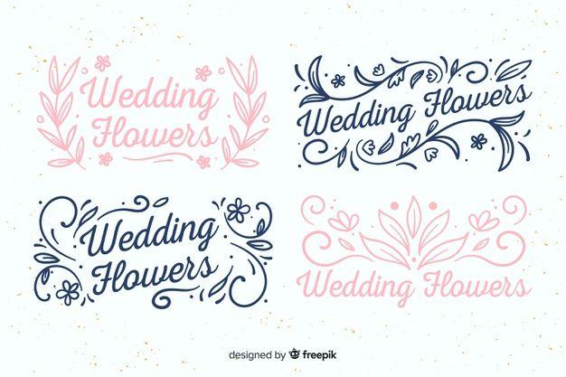 Telechargez Logos De Fleuriste De Mariage Gratuitement In 2020 Wedding Florist Logo Florist Logo Floral Wedding Stationery