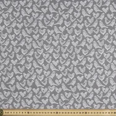 Cloud 9 Flock Poplin Grey 112 cm