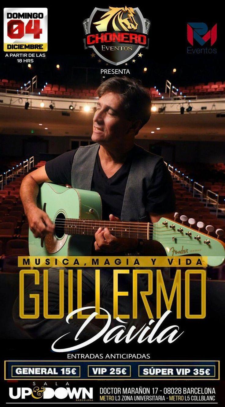 Guillermo Dávila en concierto. Única presentación. Domingo 4 de diciembre Sala Up&Down. Venta a domicilio: 672340636 / 608269314