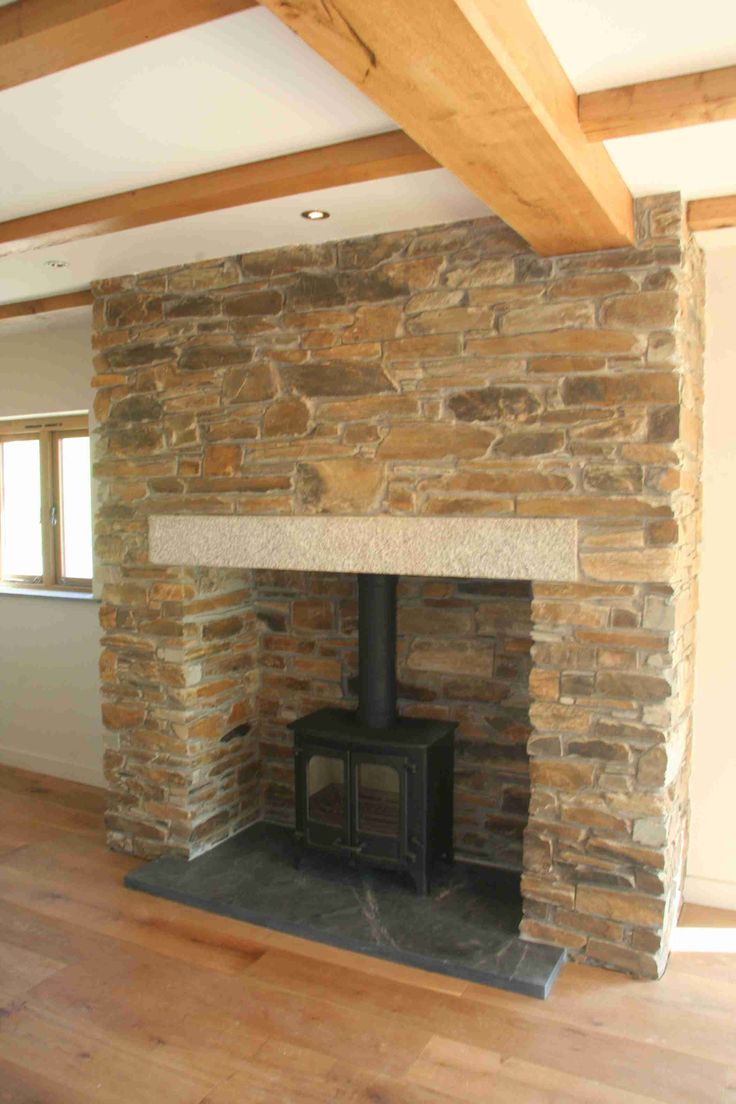 beautiful tiled fireplace wood burning stove - Google Search