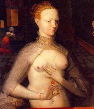 Diane de Poitiers, royal mistress to Henri II of France who was 20 years her junior.  She died from chronic consumption of gold, which was believed at the time to help preserve youth and beauty
