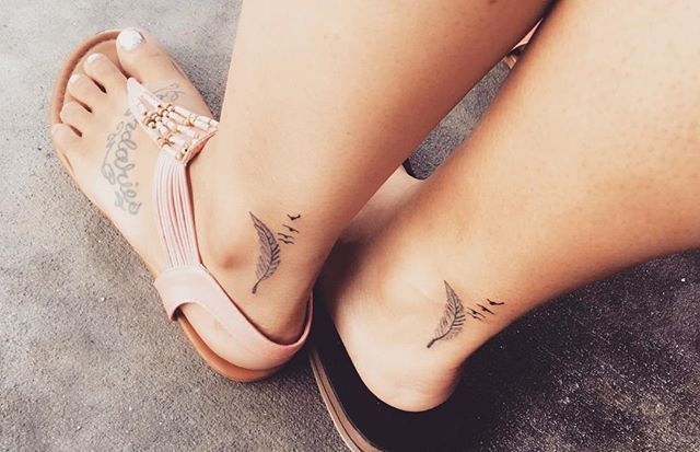 Pin for Later: 55 Creative Tattoos You'll Want to Get With Your Best Friend Birds of a Feather